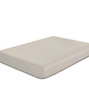 COTTON RICH SATEEN SINGLE FLAT SHEET CREAM-220 X 240 CM - Cottonhome.ae