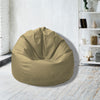 Leather Bean Bag Big Size-Gold - Cottonhome.ae