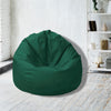 Leather Bean Bag Big Size-Green - Cottonhome.ae