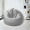Leather Bean Bag Big Size-Grey - Cottonhome.ae