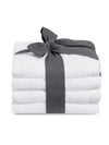 4pcs Hand Towel 40x70cm-White - Cottonhome.ae