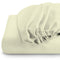 Rest Super soft Fitted sheet 160 X 200 + 30 CM-Ivory - Cottonhome.ae