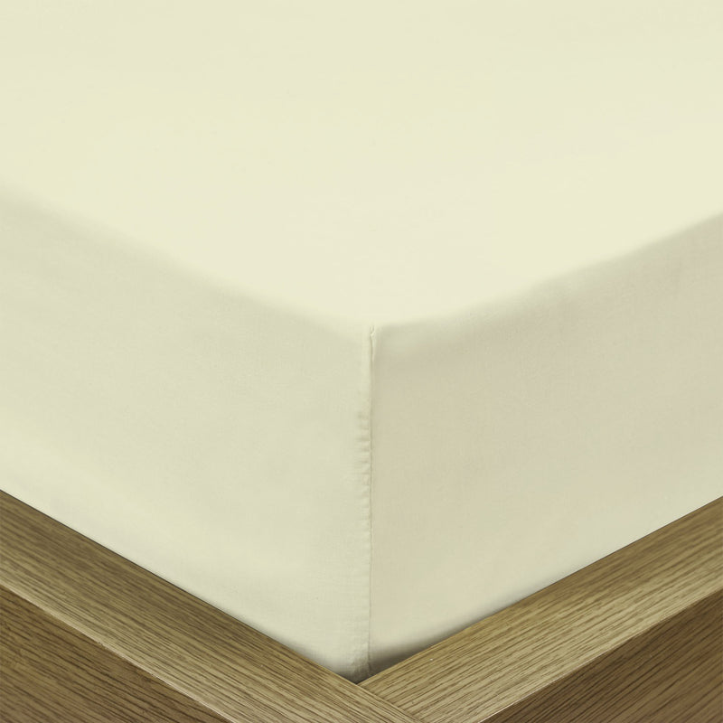 Rest Super soft Fitted sheet 120 X 200 + 25 CM-Ivory - Cotton Home