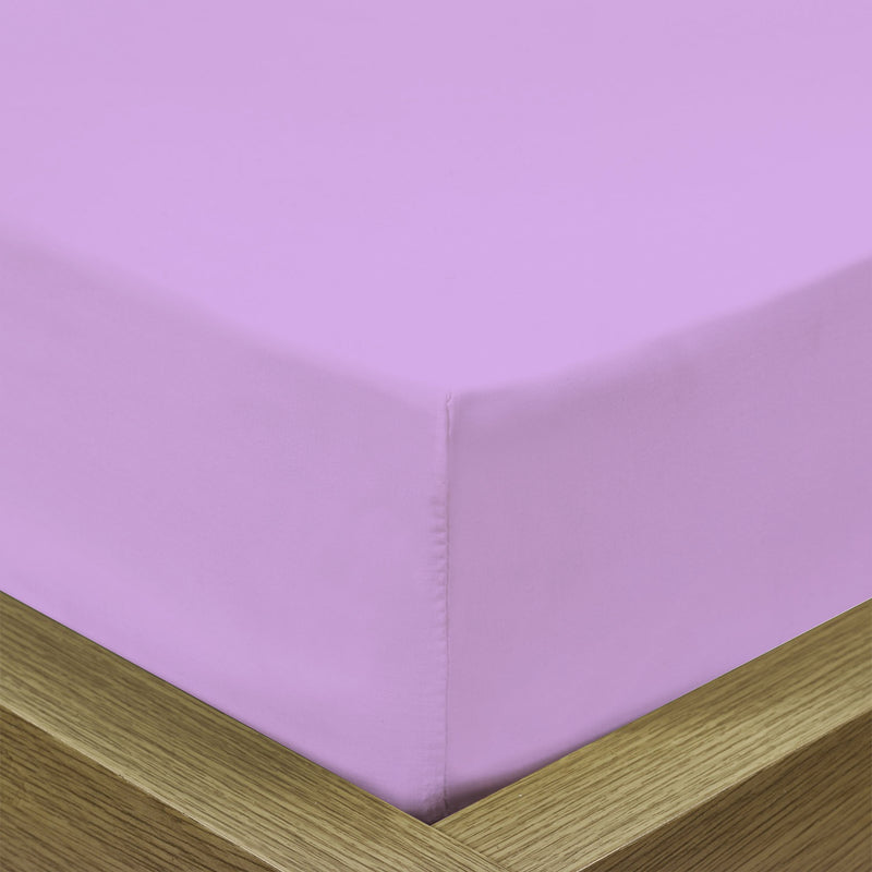 COTTON RICH SATEEN SINGLE FLAT SHEET LILAC BRIGHT-220 X 240 CM - Cottonhome.ae
