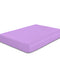 Rest Super Soft Single Flat Sheet 160x220cm-Violet - Cotton Home