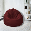 Leather Bean Bag Big Size-Maroon - Cottonhome.ae