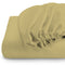 Rest Super soft Fitted sheet 160 X 200 + 30 CM-Mustard - Cottonhome.ae