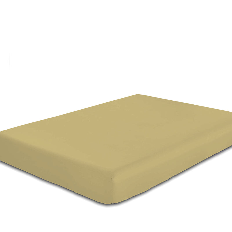 Rest Super Soft King Flat Sheet 240x260cm-Mustard - Cotton Home