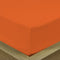 COTTON RICH SATEEN SINGLE FLAT SHEET ORANGE-220 X 240 CM - Cottonhome.ae