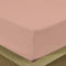 COTTON RICH SATEEN SINGLE FLAT SHEET PEACH 200 X 220 CM - Cottonhome.ae