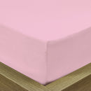Rest Super soft Fitted sheet 160 X 200 + 30 CM-Pink - Cottonhome.ae