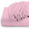 Rest Super soft Fitted sheet 120 X 200 + 25 CM-PINK - Cottonhome.ae