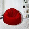 Leather Bean Bag Big Size-Red - Cottonhome.ae