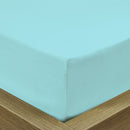 Rest Super soft Fitted sheet 160 X 200 + 30 CM-Sky blue - Cotton Home