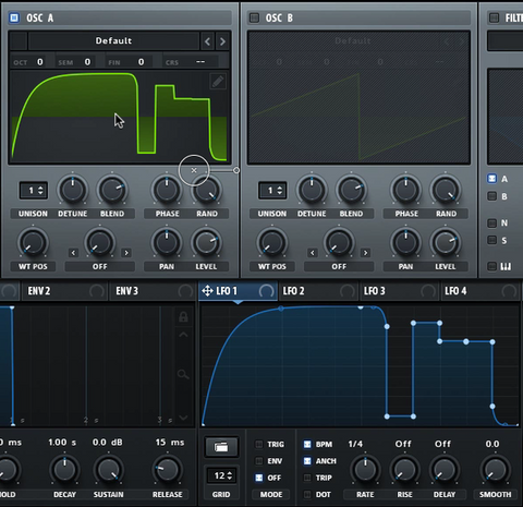 Xfer Serum - drag LFO shape to oscillators