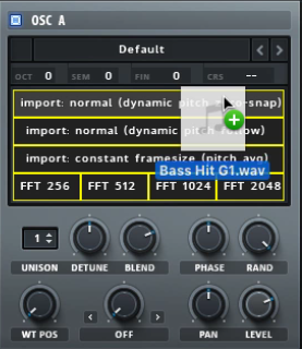 Xfer Serum - Import audio options