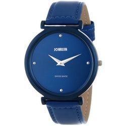 Jowissa Women's J6.114.L Fina Blue Aluminum and Stainless Steel Watch with Satin Leather Strap