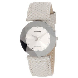 Jowissa Women's J5.003.M Facet Dimensional Glass Grey Leather Watch