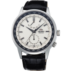 "ORIENT ""Adventurer"" Power Reserve Sapphire Black Watch Cream FA06003Y"