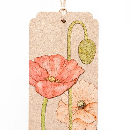 Recycled Poppy Gift Tag