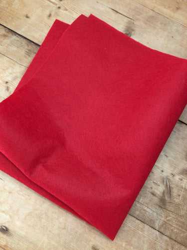 Red Felt - Fat Quarter
