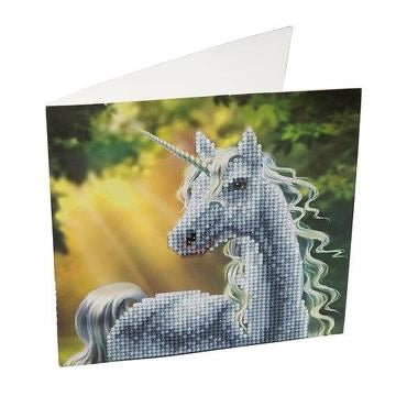 Crystal Art Card Kit - Unicorn