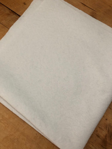 White Felt - Fat Quarter