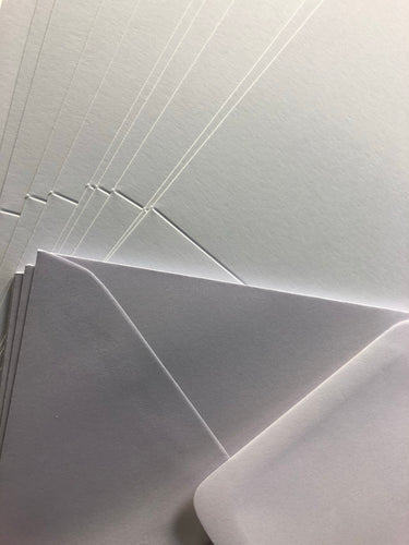 6x6 white card blanks & envelopes x10
