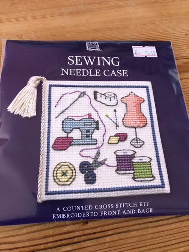 Cross stitch kit - sewing themed needle case
