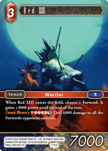 1-191S Red XIII FOIL