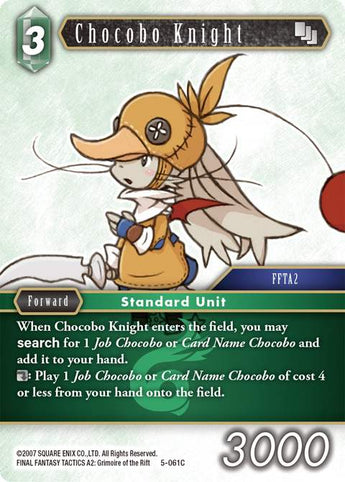5-061C Chocobo Knight FOIL