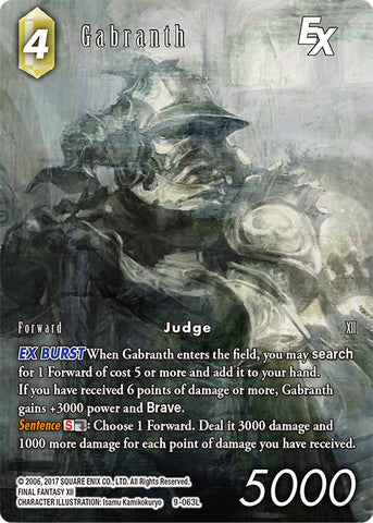 9-063L Gabranth FULL ART FOIL