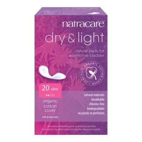 Natracare  Dry & Light Pads (Light Incontinence) 20s - honearthly