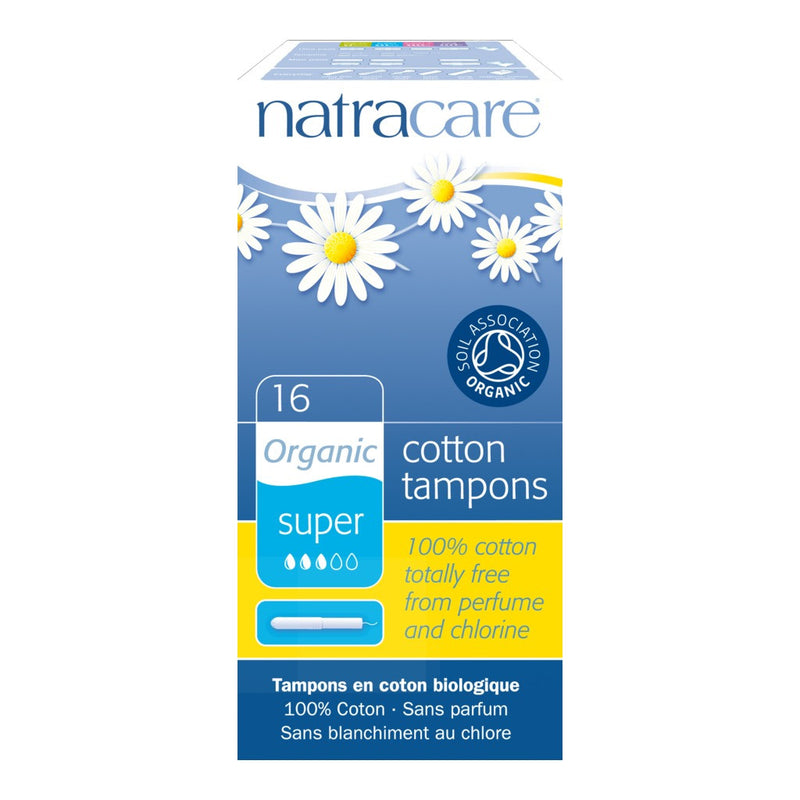 Tampons (Applicator) Super - Organic 16s - honearthly
