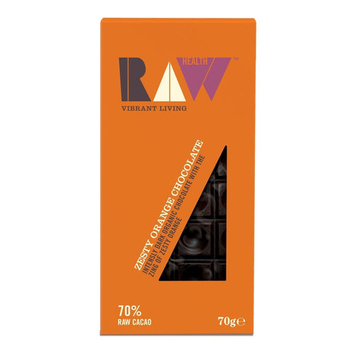 Zesty Orange Dark Raw Chocolate 70% Cocoa 70g - honearthly