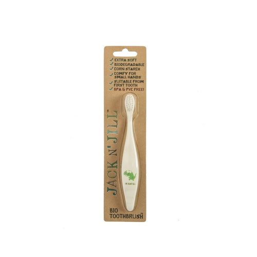 Jack & Jill  Compostable Biodegradable Dino Toothbrush Single - honearthly