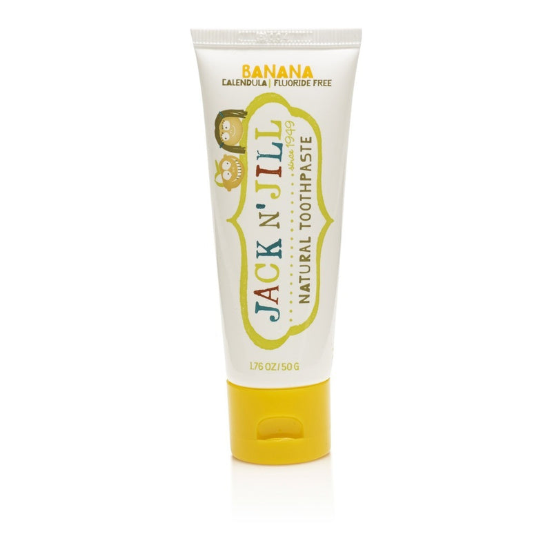 Jack & Jill  Natural Calendula Banana Toothpaste 50g - honearthly