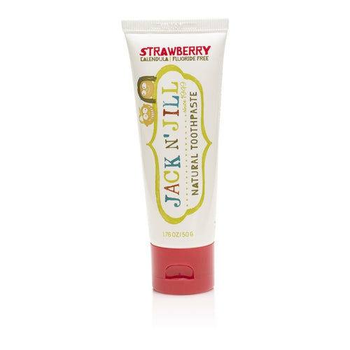 Jack & Jill  Natural Calendula Strawberry Toothpaste 50g - honearthly