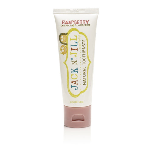 Jack & Jill  Natural Calendula Raspberry Toothpaste 50g - honearthly