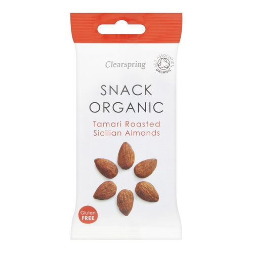 Tamari Roasted Sicilian Almonds - Organic 30g x 15 - honearthly