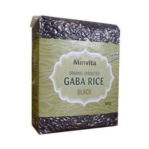 Organic Gaba Rice - Black 500g - honearthly
