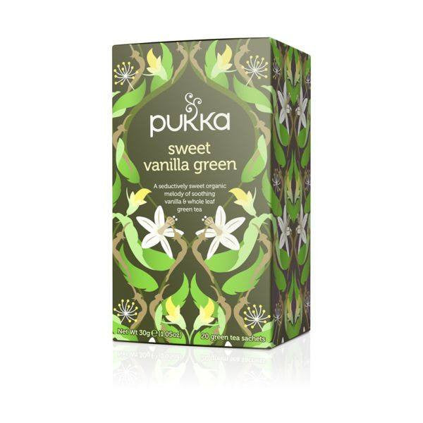 Pukka  Sweet Vanilla Green Tea 20 Bags - honearthly