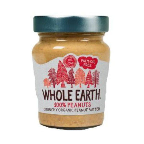 Whole Earth  100% Nuts Crunchy Peanut Butter 227g - honearthly