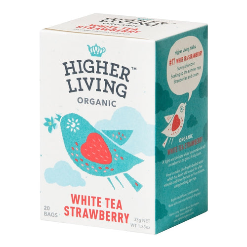 White Strawberry Organic Tea 20 Bags x 4 - honearthly