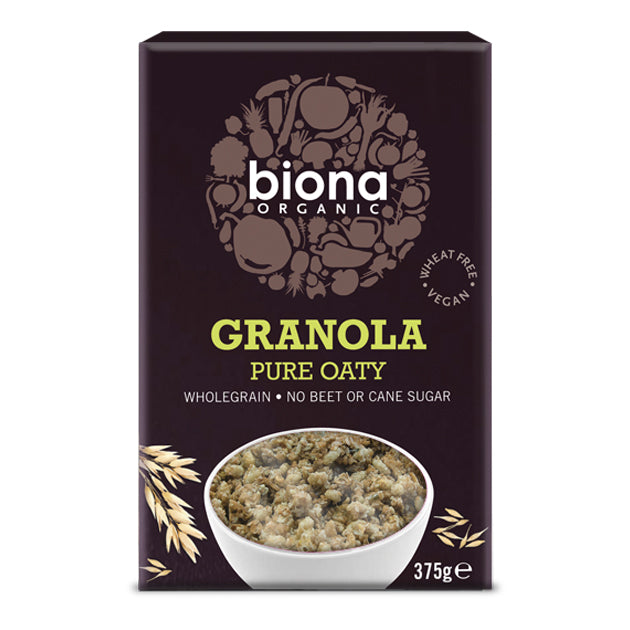 Pure Oaty Granola - No Added Sugar 375g - honearthly