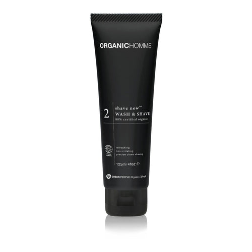 Organic Homme - 2 Shave Now Wash & Shave Gel 125ml