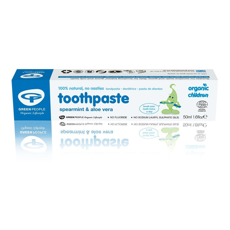 Childrens Spearmint & Aloe Vera Toothpaste 50ml - honearthly