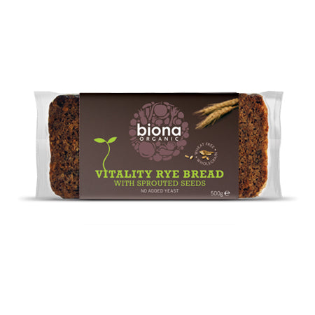 Vitality Rye Bread With Sprouted Seeds 500g - honearthly