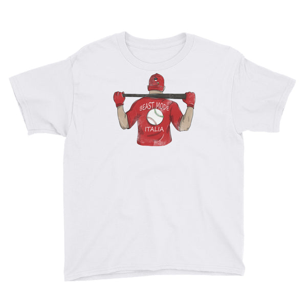 Beast Mode Baseball Youth Short Sleeve T-Shirt