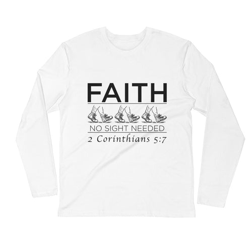 FAITH Long Sleeve Fitted Crew